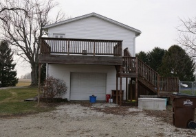 Garage and Master Deck View
