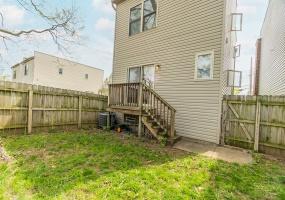 Small fenced back yard