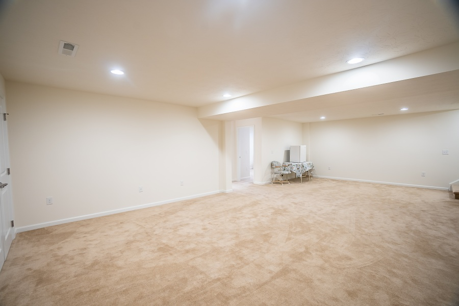 Large finished space with extra closet/storage