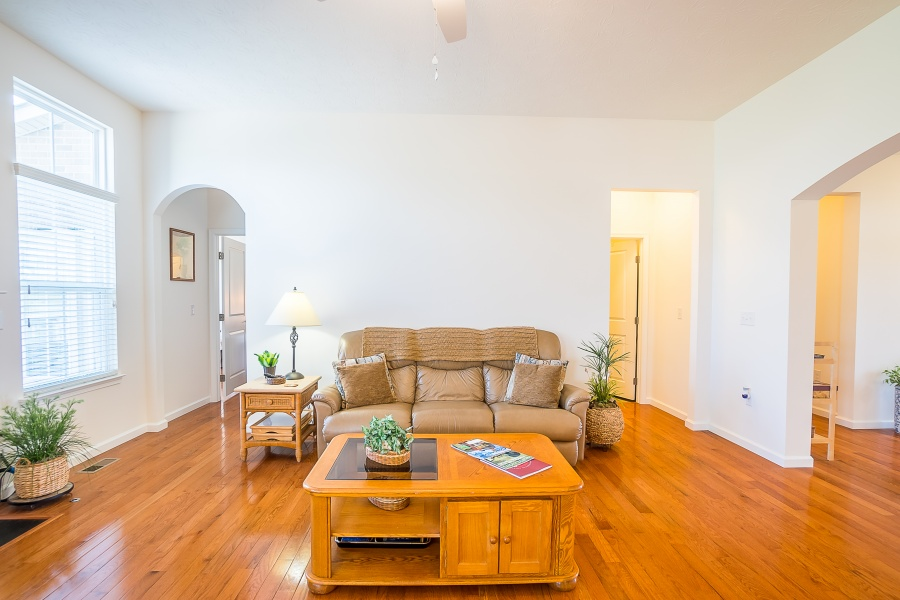 Open and spacious with high ceilings